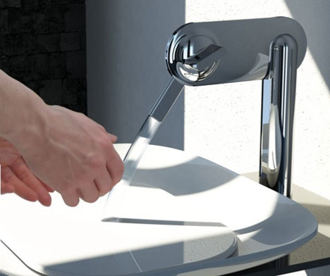 Köhler FLUID Faucet: Wash Your Hands Or Drink Handsfree