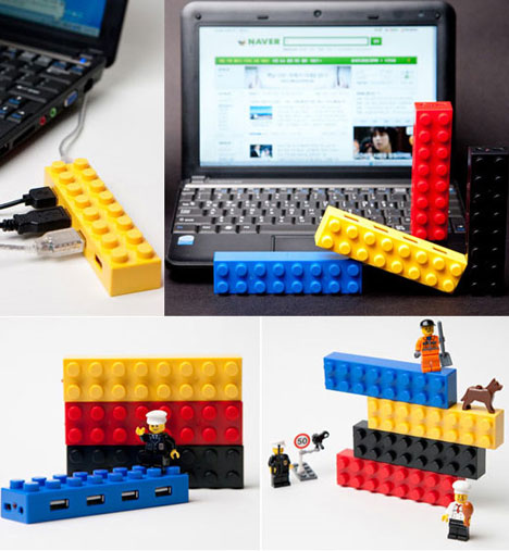Lego USB Hubs Add Color To Your Desktop