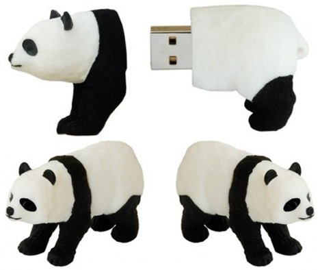 Panda USB Flash Drive Bears Your Files