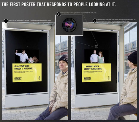 Amnesty Bus Stop Ad Knows If You're Looking