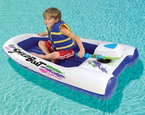 Children's Inflatable 2MPH Speedboat Makes Waves