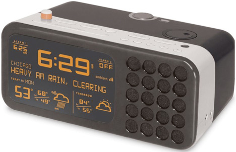 Wake To Weather Alarm Clock Displays Your Local Conditions