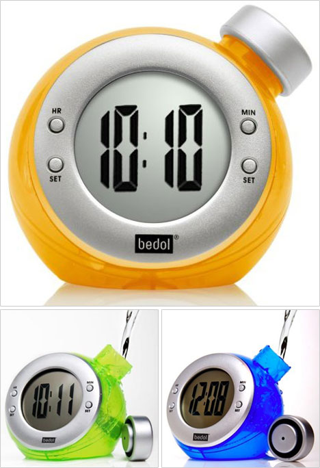 Bedol Water-Powered Clock Likes A Drink...With A Twist