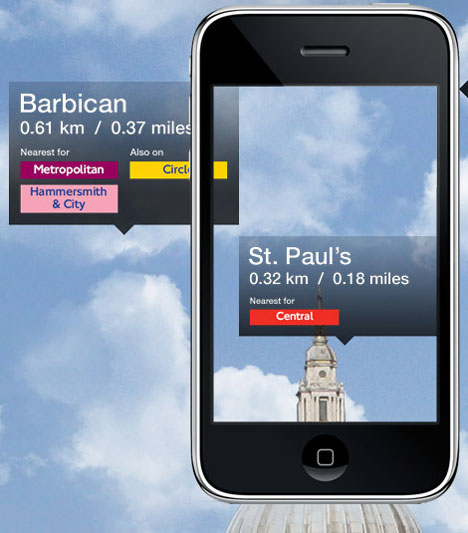 Nearest Tube iPhone App Augments Reality Underground Style