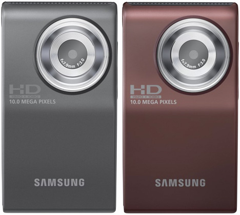 Samsung Intros HMX-U10 Full-HD 10MP Pocket Camcorder [In Black and Red]