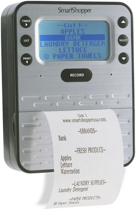 SmartShopper Voice Recognition Grocery List Organizer