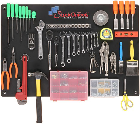 StuckOnTools Tool Board Makes Tool Storage Magnetic