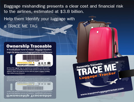 Trace Me Luggage Tracker Tag