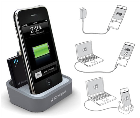 Kensington iPhone/iPod Charging Dock With Mini Battery Pack