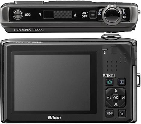 Nikon Coolpix S1000pj: World's First Projector Camera [Top & Rear]