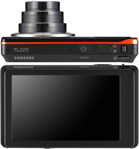 Samsung DualView TL225 Camera [Top & Back]