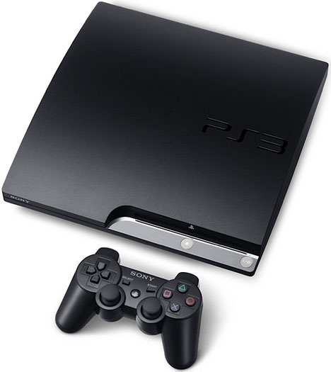 Sony PlayStation 3 Slim [Top With Controller]