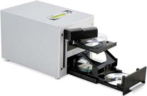 Automatic 25 DVD Duplicator Spins Out Copies Without A Computer