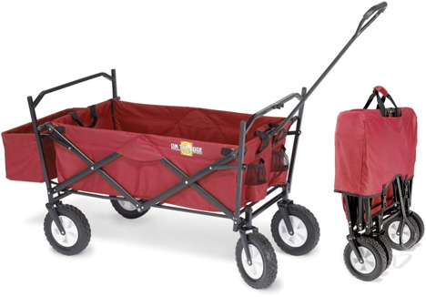 Heavy Duty Foldaway Utility Cart Totes Your Tools, Folds To Nothing.