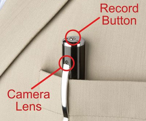 The Video Camera Pen [In Pocket]