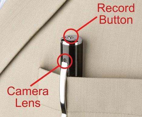 The Video Camera Pen [In Pocket]