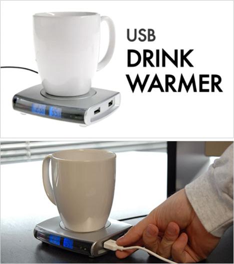 USB Drink Warmer With 4-Port USB Hub