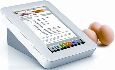 Demy Touchscreen Digital Recipe Reader {Resting Flat]