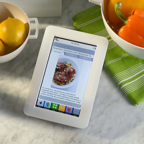 Demy Touchscreen Digital Recipe Reader [In Action]
