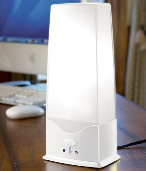 Desktop Light Therapy Box Counters Sad Jet Lag And