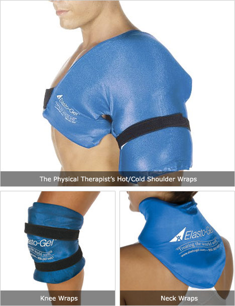 Physical Therapist's Hot/Cold Wraps [Shoulder, Neck & Knee]
