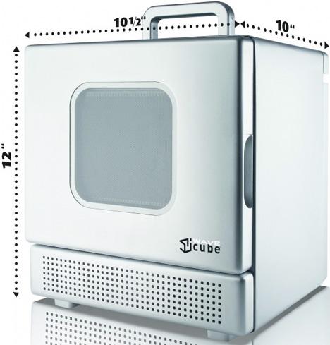 Iwavecube 600w Personal Desktop Microwave Oven Cooks In