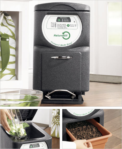 Naturemill Pro Xe Electric Composter Creates Odor Free