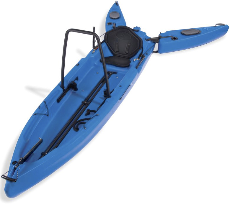 Only stand up fisherman s kayak with extendable outriggers for Stand up fishing kayak