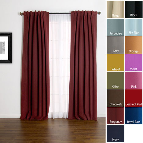 Solid Insulated Thermal 84-Inch Blackout Curtains