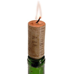 Wine Cork Candles Add Fire To A Romantic Night In   Mark's ...