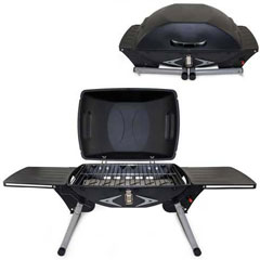 Portable Gas Grill With Built-In Igniter And 2 Slide