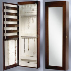 The 45-Inch Wall Mounted Lighted Jewelry Armoire