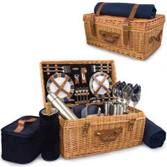 23.5 Inch English Style Picnic Suitcase