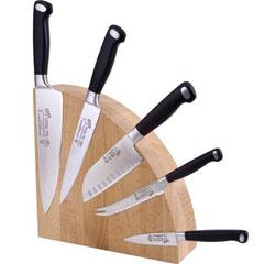 Messermeister Sam The Cooking Guy Magnetic Beechwood Knife Block