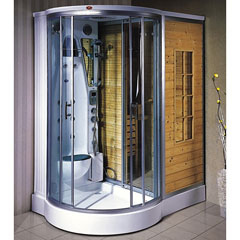 Paradise White Cypress Sauna And Steam Room