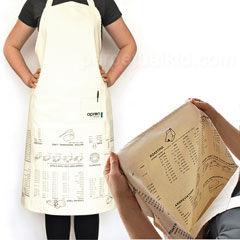 Upside Down Apron With Cooking Guide