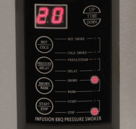 The Only Indoor Pressure Smoker [Control Panel]