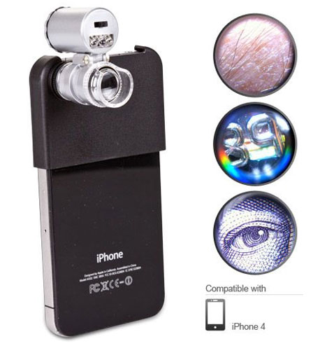 Mini Microscope for iPhone 4 [show us some skin!]