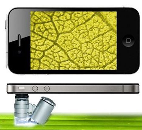 Mini Microscope for iPhone 4 [can't leave the detective work alone]