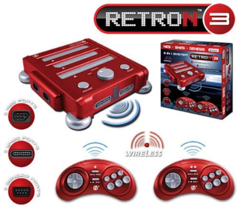 Retron 3 NES/SNES/Genesis Triple System [a 3-UP if you will]