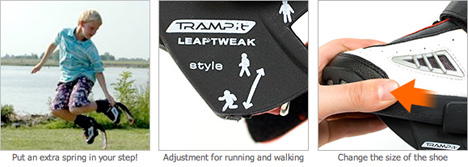TRAMP-It Jump Shoes [highly adjustable]