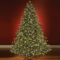 World's Best Prelit Noble Fir LED Christmas Tree
