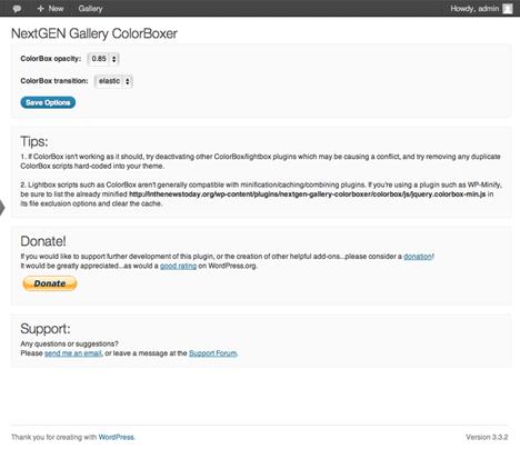 NextGEN Gallery ColorBoxer